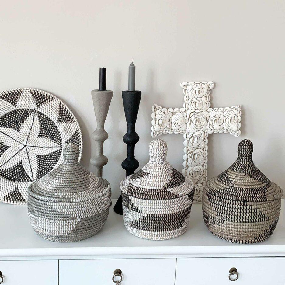 Körbe mit Muster für Wohndeko & Accessoires, Aufbewahrung & Dekoration ✅ Ethno Deko. Schneller Versand, Service, Soulbirdee Onlineshop