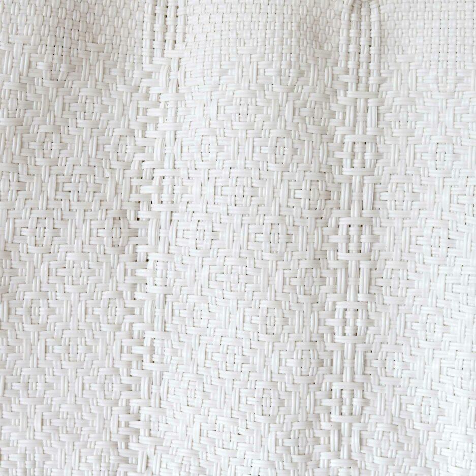 Weisse Tasche, Handtasche, Detail des Musters