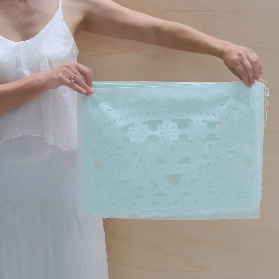 Girlande Fahne aus Papier als Dekoration | Boho Deko für Outdoor Soulbirdee Onlineshop