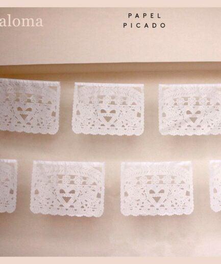Papier Girlande Paloma aus Mexiko ♥ Boho Deko Fahne ♥ Dekoration im Boho Style für Geburtstag ♥ Ethno Deko online kaufen ♥ Soulbirdee Onlineshop