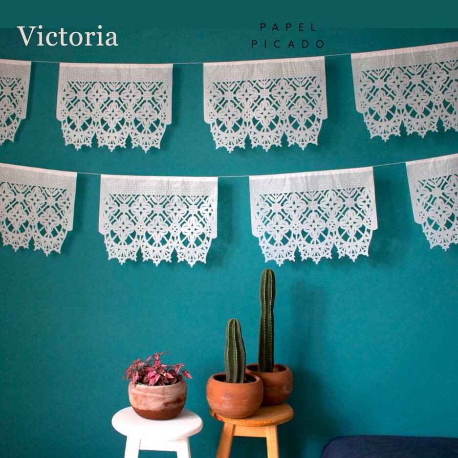Papier Girlande Victoria aus Mexiko ♥ Boho Deko Fahne ♥ Dekoration im Boho Style für Geburtstag ♥ Ethno Deko online kaufen ♥ Soulbirdee Onlineshop
