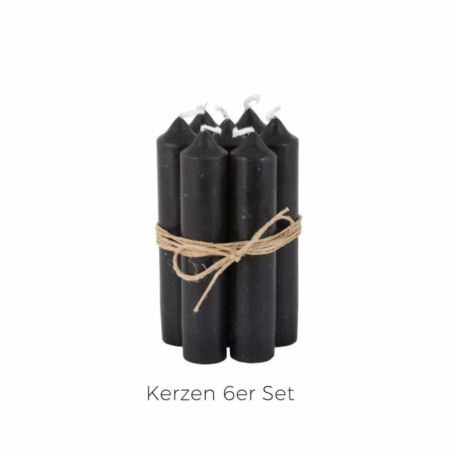 Schwarze Kerzen 11 cm hoch im 6er Set ♥ IB Laursen Kerzen kaufen | Kerzendeko & Kerzenständer ♥ Durchgefärbte Kerze 11 cm Länge ♥ Soulbirdee Onlineshop