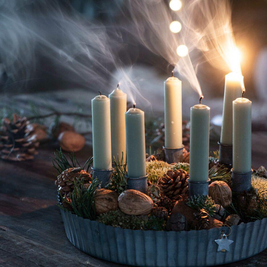 Kurze Kerzen 11 cm hoch im 6er Set ♥ IB Laursen Kerzen kaufen | Kerzendeko & Kerzenständer ♥ Durchgefärbte Kerze 11 cm Länge ♥ Soulbirdee Onlineshop