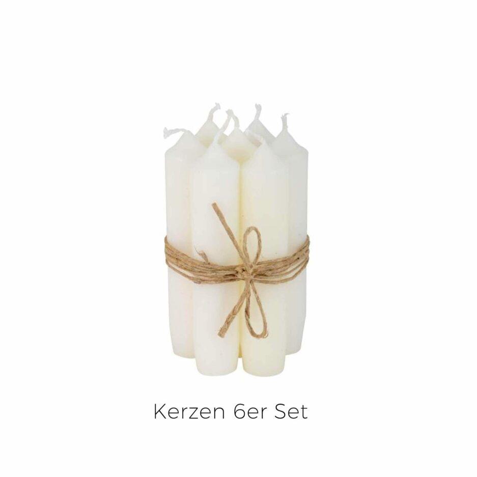 Weisse Kerzen 11 cm hoch im 6er Set ♥ IB Laursen Kerzen kaufen | Kerzendeko & Kerzenständer ♥ Durchgefärbte Kerze 11 cm Länge ♥ Soulbirdee Onlineshop