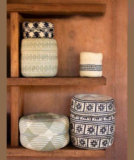 Tenates de Palma in Natur ♥ Hand geflochtene Körbe aus Mexiko in fröhlichen Farben ♥ Ethno Deko | Dekoration im Ethno Style ♥ Soulbirdee
