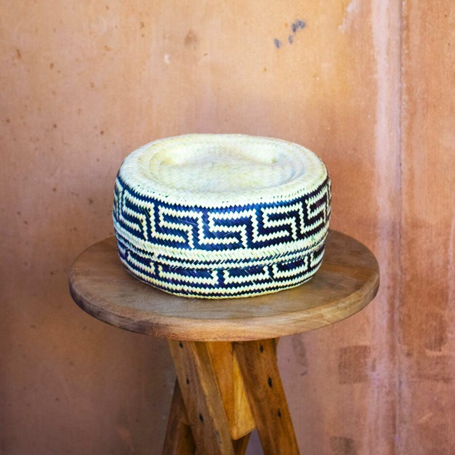 Mexikanischer Blauer Korb ♥ Hand geflochtene Körbe aus Mexiko in fröhlichen Farben ♥ Ethno Deko | Dekoration im Ethno Style ♥ Soulbirdee
