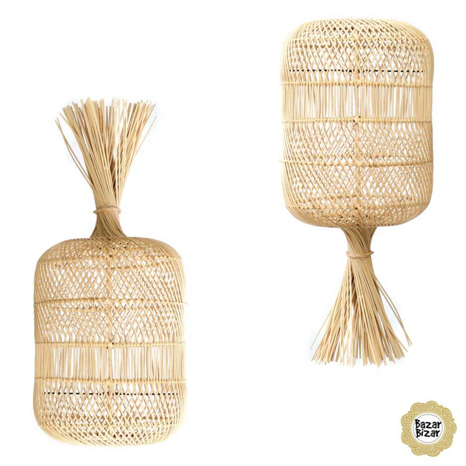 Lampenschirm als Dekoration aus Rattan | Dumpling Lampe Bazar Bizar Lampen im Boho Stil als Dekoration oder Hängelampe oder Stehlampe im Soulbirdee Onlineshop