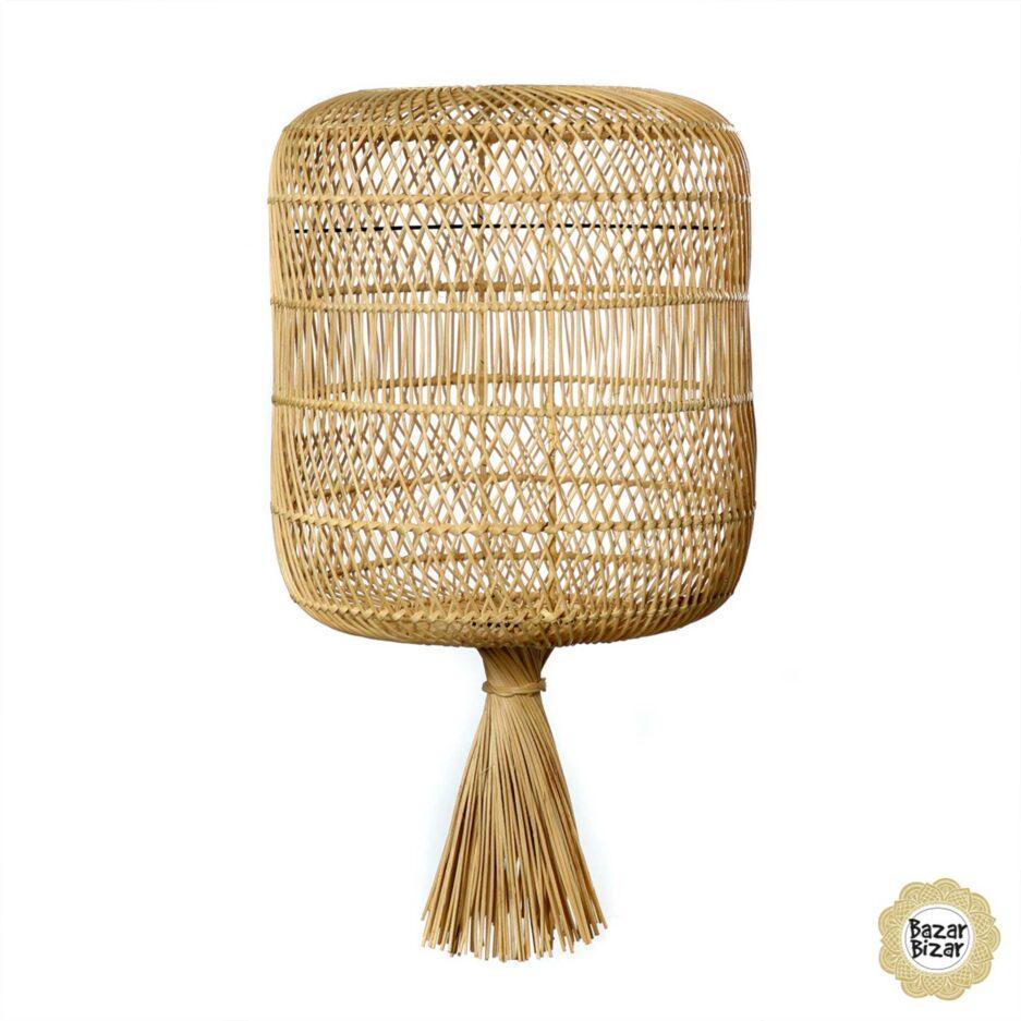 Lampenschirm aus Rattan | Dumpling Lampe Bazar Bizar Lampen im Boho Stil als Dekoration oder Hängelampe oder Stehlampe im Soulbirdee Onlineshop