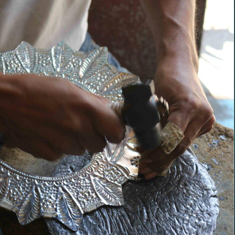 Milagros Spiegel Herstellung von Hand