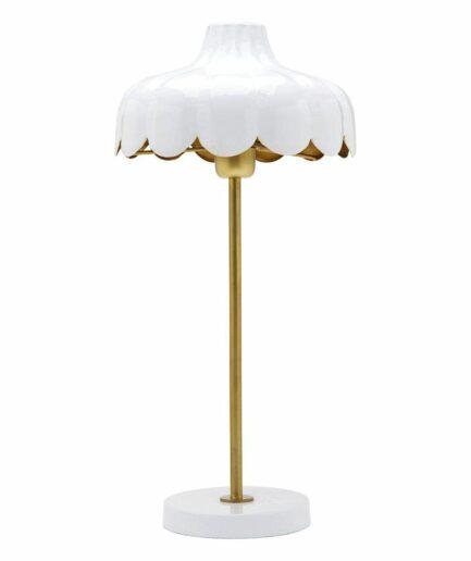 """Skandi Tischlampe in Blumenform """"Fika"""", Weiße Lampe von PR Home bei Soulbirdee Onlineshop"""