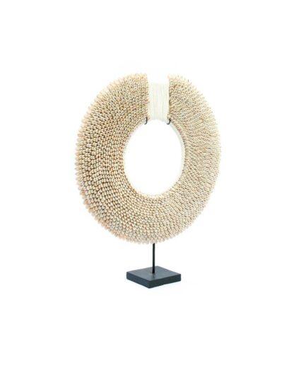 Muschelkette white disc on stand azar bizar bei soulbirdee onlineshop