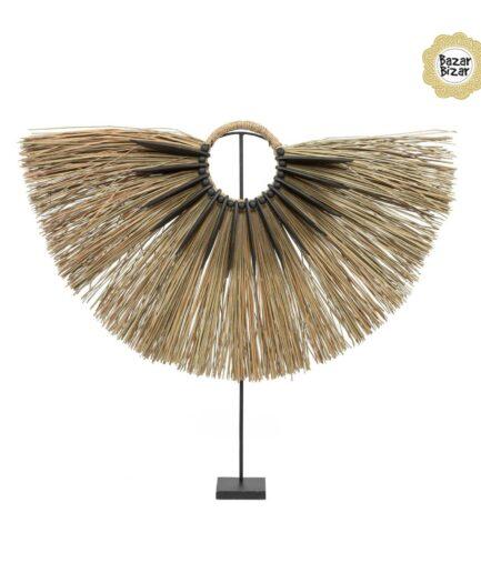 Alang Wood Dekoration im Boho Style | Alang Gras & Holz Ständer | Bazar Bizar bohemian Dekoration online kaufen | Soulbirdee Onlineshop