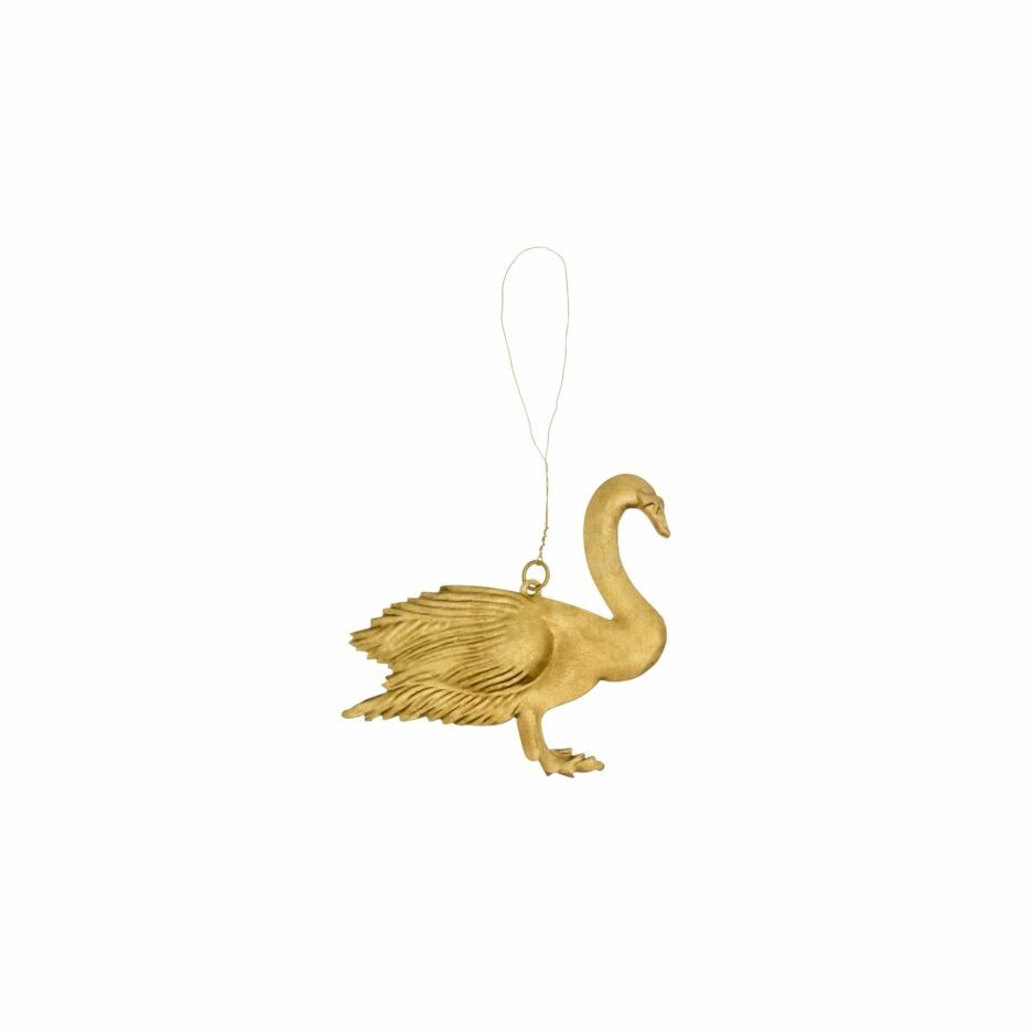 Anhänger Schwan | Dekoanhänger in Gold Figur | Geschenk | Christbaumschmuck | Bungalow DK Weihnachtsdeko. Soulbirdee Onlineshop