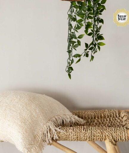 Kissenbezug The Oh my Ghee CREAM ♥ The Oh My Gee - CREAM von Bazar Bizar, ein weiches Kissen aus Baumwolle mit Fransen ♥ Bazar Bizar kaufen mit Rabatt
