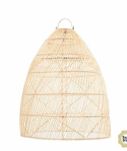 Rattan Lampenschirm in XXL von der Marke Bazar Bizar. Großer Lampenschirm im Bohemian Wohnstil mit 60 und 80 cm reduziert im SALE kaufen