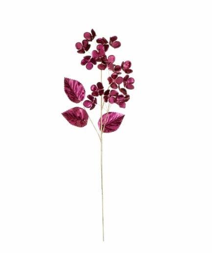 Plastikblume Rhododendron Feige ♥ Künstliche Blume, Kunstblume in Dunkelrot als Tischdeko für Weihnachten ♥ Elegante Blumendeko
