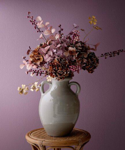 Plastikblume Rhododendron von Bungalow, Künstliche Blume, Kunstblume in Dunkelrot als Tischdeko für Weihnachten ♥ Elegante Blumendeko