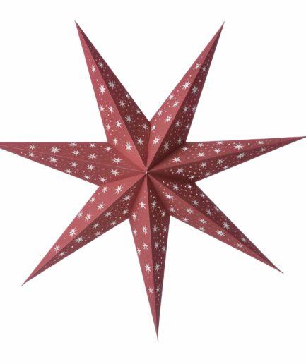 Stern aus Papier als Weihnachtsdeko ♥ Weihnachtsstern mit 90 cm in der Farbe Kirsch Rot ♥ Papierstern online kaufen ♥ Adventsdekoration
