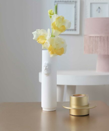 Vase für Einzelblüte, Porzellanvase schmal und hoch für eine Blume