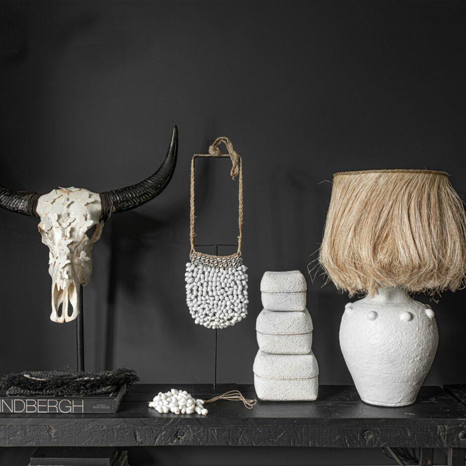 Perlenkörbe Set, Weiß aus Bali ♥ Ibiza Style Deko von Bazar Bizar kaufen