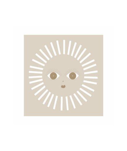 Servietten im Bohemian Stil mit Sonnenmotiv in Beige und Gold. Papierservietten für Geburtstag, Hochzeit und Weihnachten kaufen