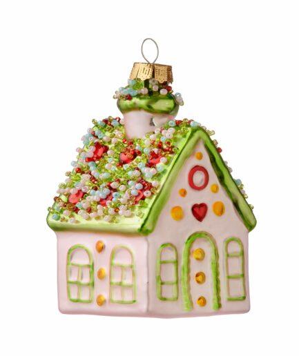 Christbaumschmuck Anhänger in der Form eines Knusperhäuschen ♥ Christbaum-Anhänger, Christbaum-Dekoration, Weihnachtsdeko Haus