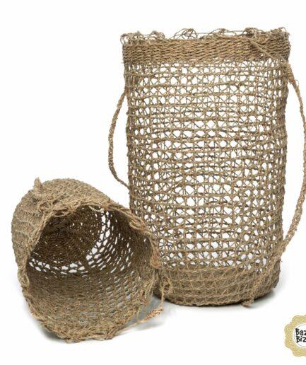 Bohemian Accessoires aus Seegras von der Marke Bazar Bizar. Boho Deko aus natürlichen Materialien im Strandhaus Stil bestellen