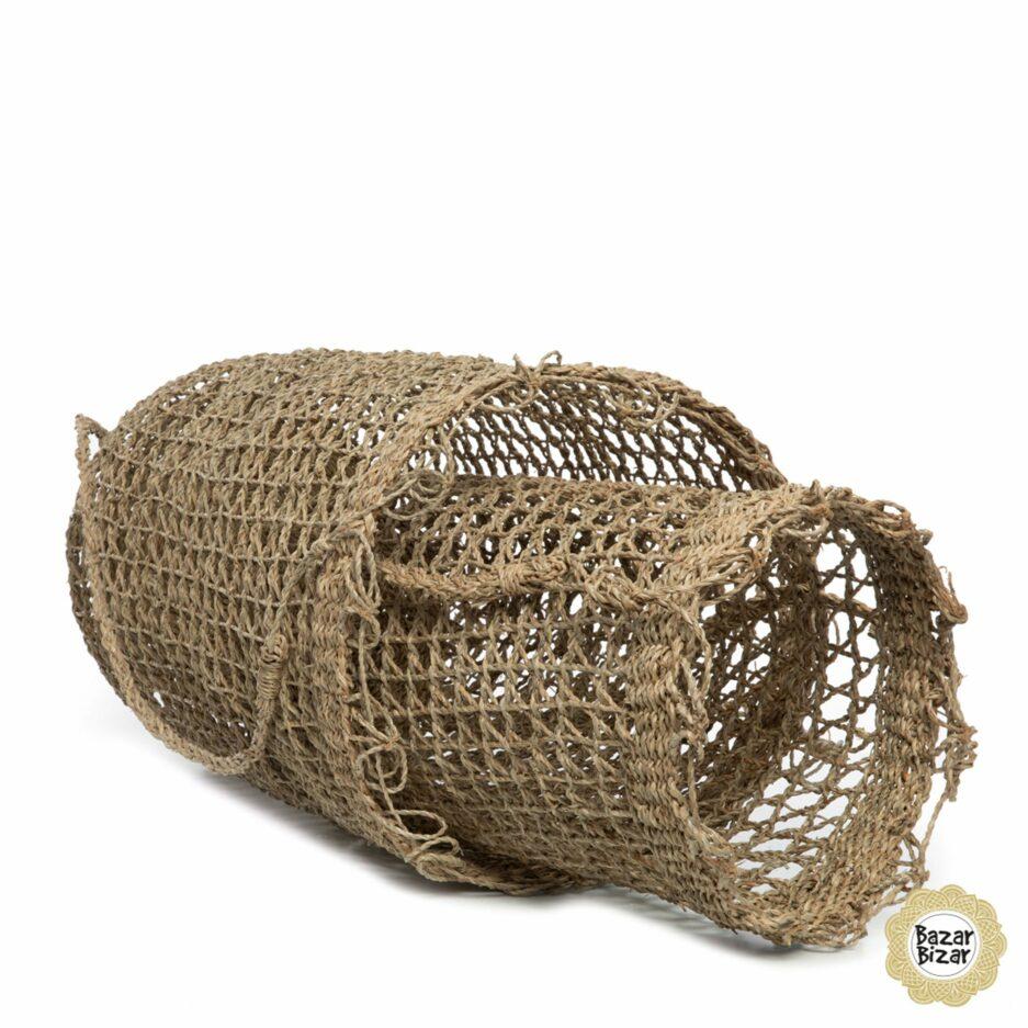 Boho Rucksack aus geflochtenem Gras von Bazar Bizar. Hippie Körbe aus Seegras im Bohemian Stil bei Soulbirdee kaufen