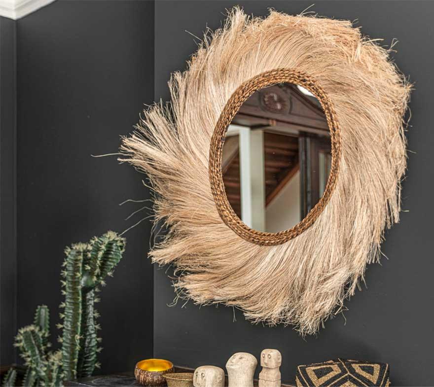 Spiegel im Boho Style Bazar Bizar im Soulbirdee Onlineshop Wanddeko online kaufen