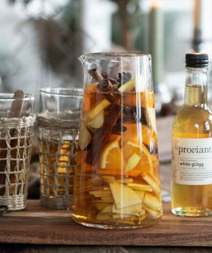 Glaskaraffe ohne Henkel mit 20 cm Höhe für Punsch & Glögg. Krug aus klarem Glas von IB Laursen online bestellen